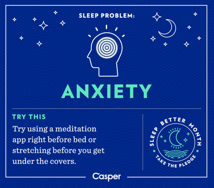 Sleep Problem: Anxiety
