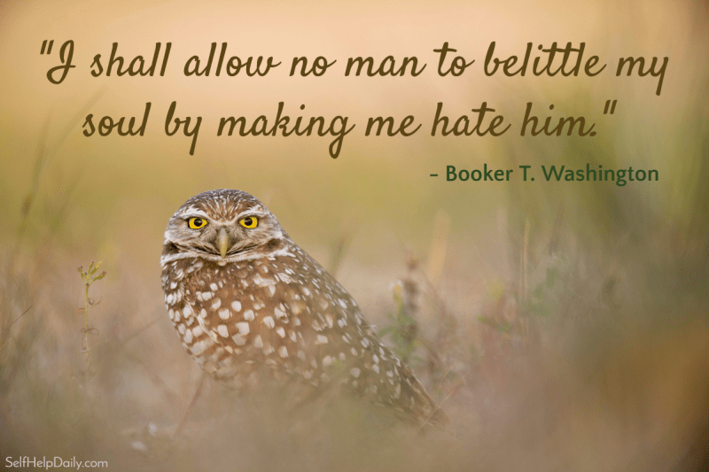 Booker T Washington Quote Graphic Hate  Self Help Daily