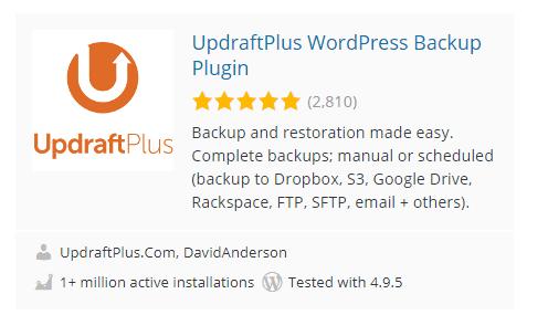 Up draftplus e WordPress Plugins