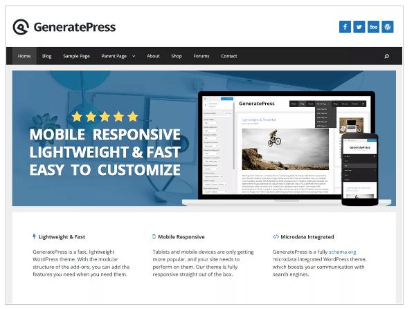 WordPress Themes generate press