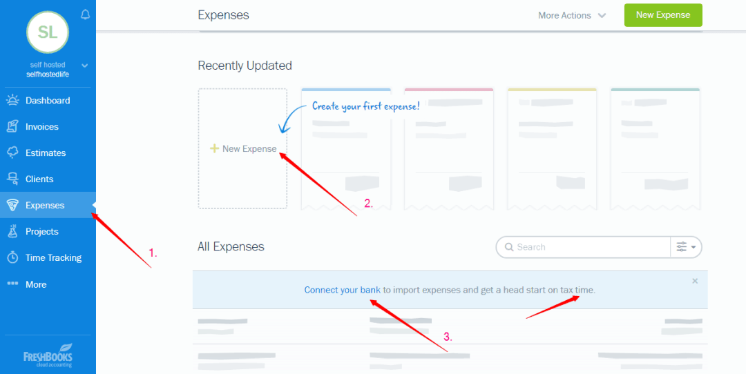 manage expenses with FreshBooks