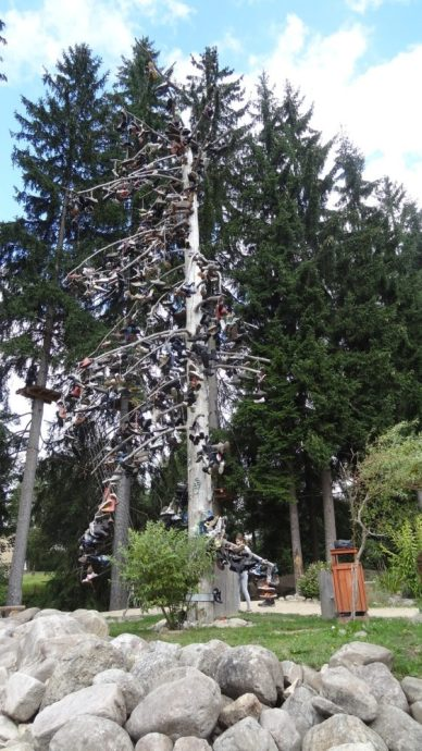 Shoes tree in Harrachov