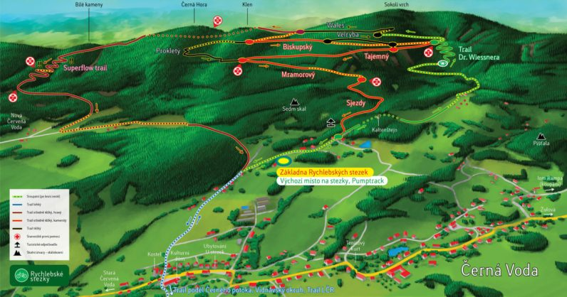 Map of Rychleby Trails