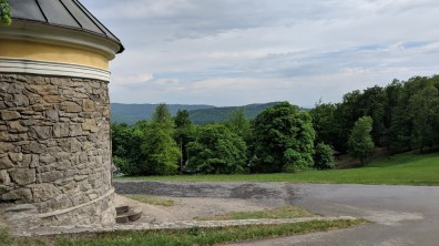 A view of the surroundings from the small rotunda of the old cross