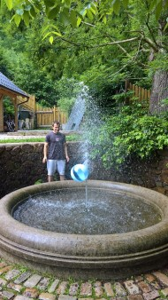 Fountain with ball