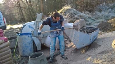 Příprava betonu do podlahy