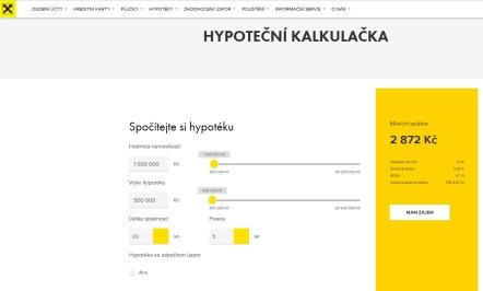 Hypoteční kalkulačka Raiffeisen Bank