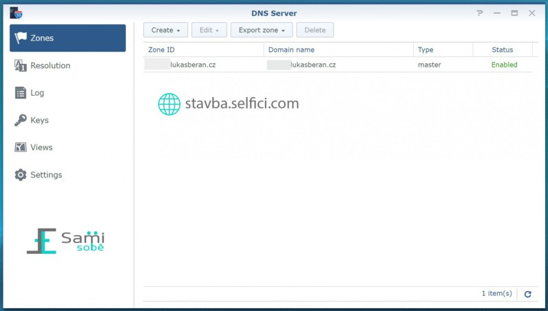 DNS Server na Synology RT2600ac