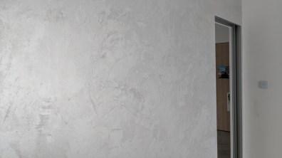 Detailní pohled na omyvatelnou perleťovou stěrku