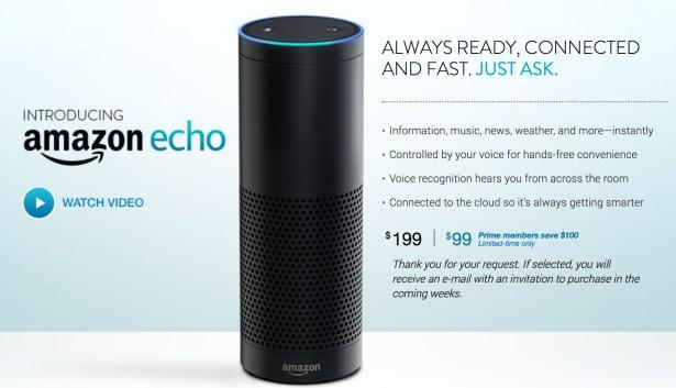 Echo ist derzeit nur auf Einladung zu kaufen