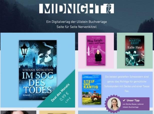 Homepage des Ullstein-Labels Midnight