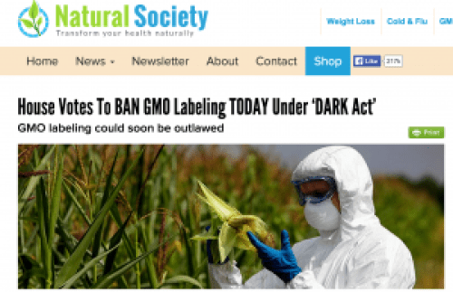 Now why would a company want to make sure that consumers never know that their food contains GMOs?
