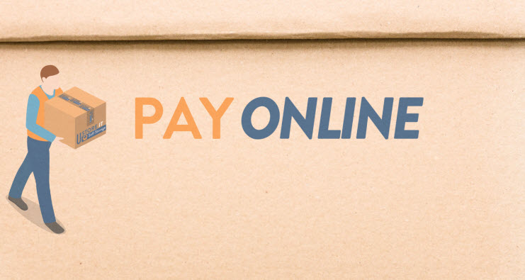 Easy Online Self Storage payment options.