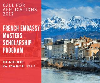 French Embassy Scholarship Programme