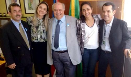 Jair Miranda, Márcia Sá-Teles, Jonas Paulo, Fernanda Sá-Teles e Gilson Nascimento.