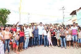 Momento da chegada do pré-candidato Otto Filho em Ibiquera - Ba