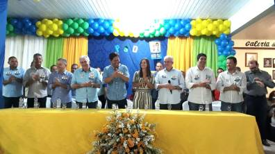 Comitiva do PSD presente no evento em Ruy Barbosa - Ba