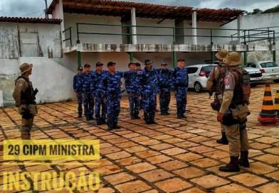 29ª CIPM realiza Instrução para guarda municipal de Abaíra