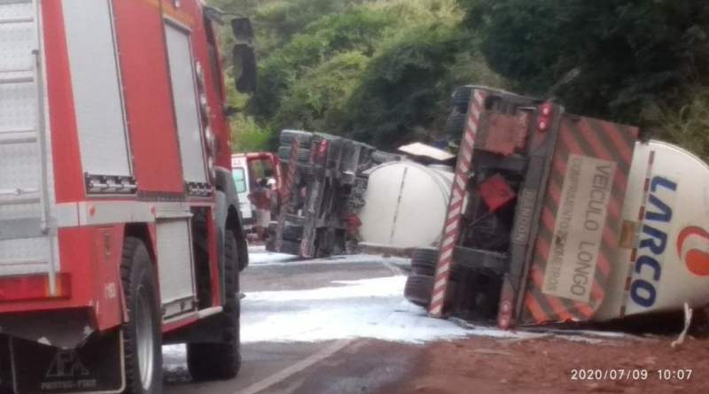 BR-242 continua bloqueada após acidente, bloqueio já dura mais de 24 horas
