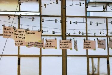 Gedankengarderobe am Act 08 in Zürich