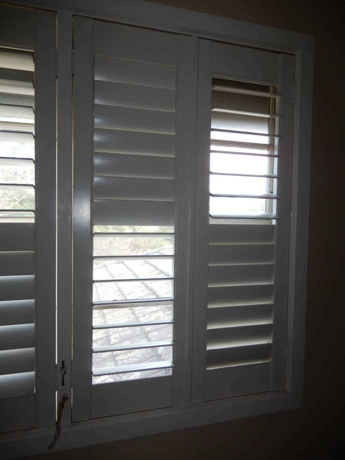 Plantation Shutters Off White Centre Opening 805w X1300h Now Removed 6i
