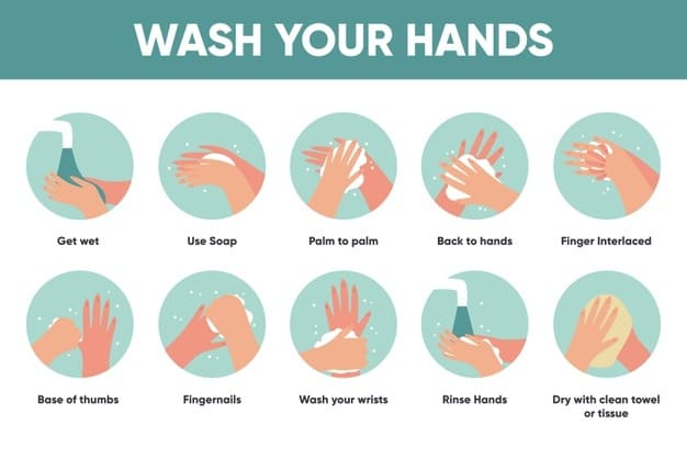 how to wash your hands illustration sellables