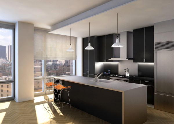 urban design house kitchen Urban Glass House - Selldorf Architects - New York