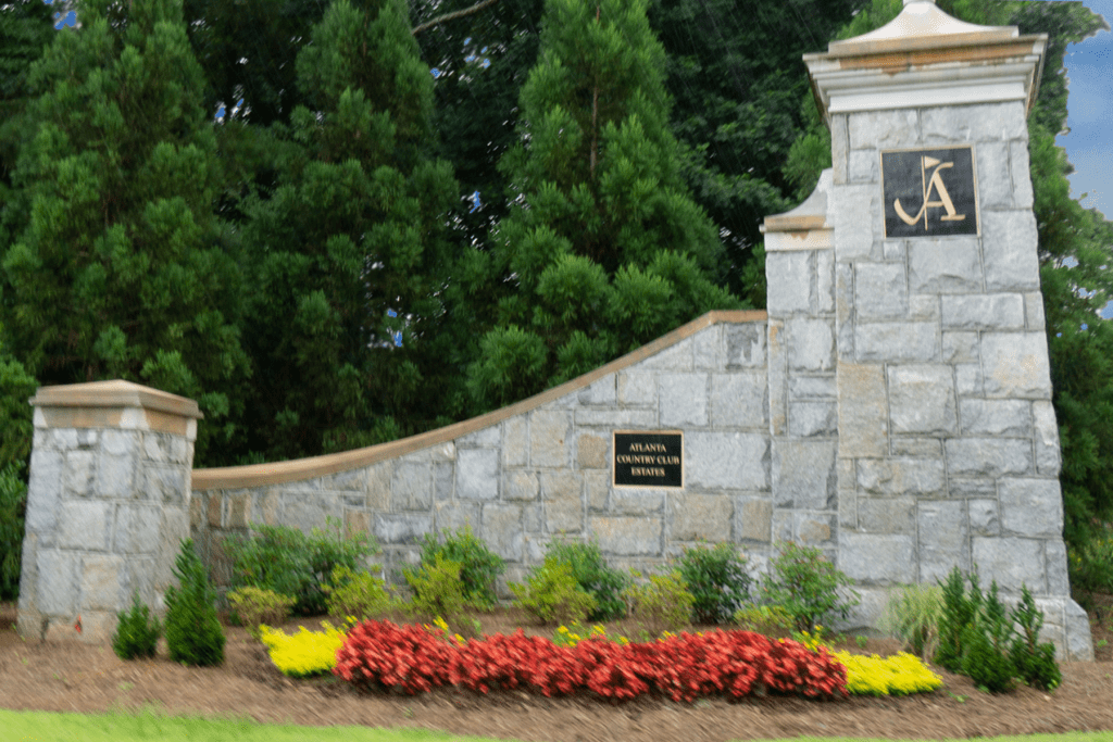 Entrance to the Atlanta Country Club neighborhood.