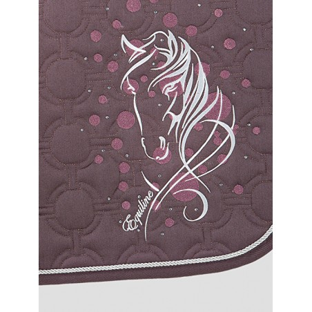 tapis de selle equiline sparrow broderie horse