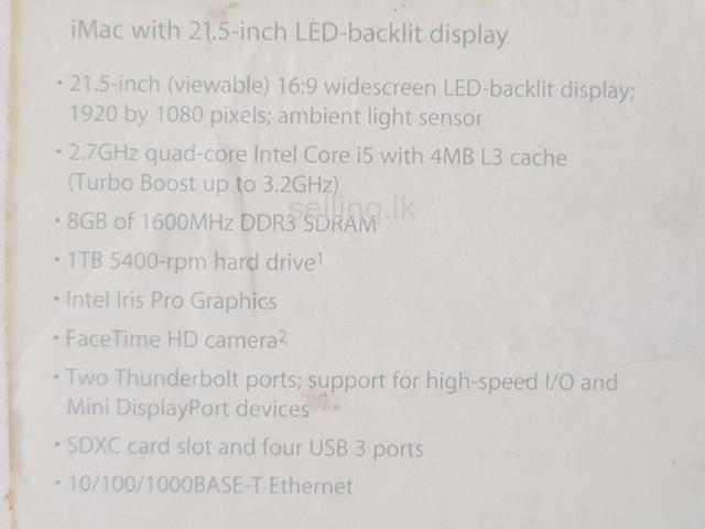 iMac (21.5-inch LED Backlit Display, Late 2013) Colombo 15