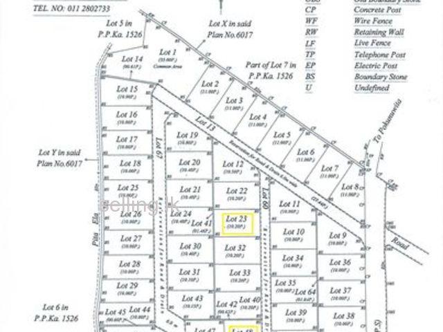 Three lands to be sold in Welikala RD, Pokunuwita-Horana
