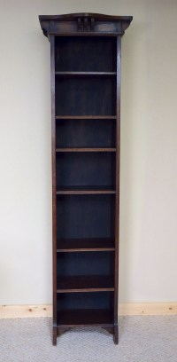6ft Tall Narrow Oak Bookcase Art Nouveau | 300340 ...