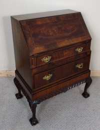 Mahogany Chippendale Style Bureau Hidden Compartments ...