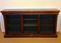 Long Low Rosewood Bookcase | 442784 | Sellingantiques.co.uk
