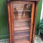 C19th Empire Style Mahogany Floor Standing Glazed Bookcase