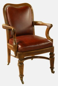 Victorian Mahogany & Leather Desk Chair | 440336 ...