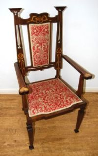 Set Of Four Fischel Bentwood Captain Chairs / Armchairs ...