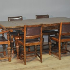 Kitchen Table And 6 Chairs Uk Chair Covers Weddings Large Vintage Carved Oak Pull Out Extending Dining