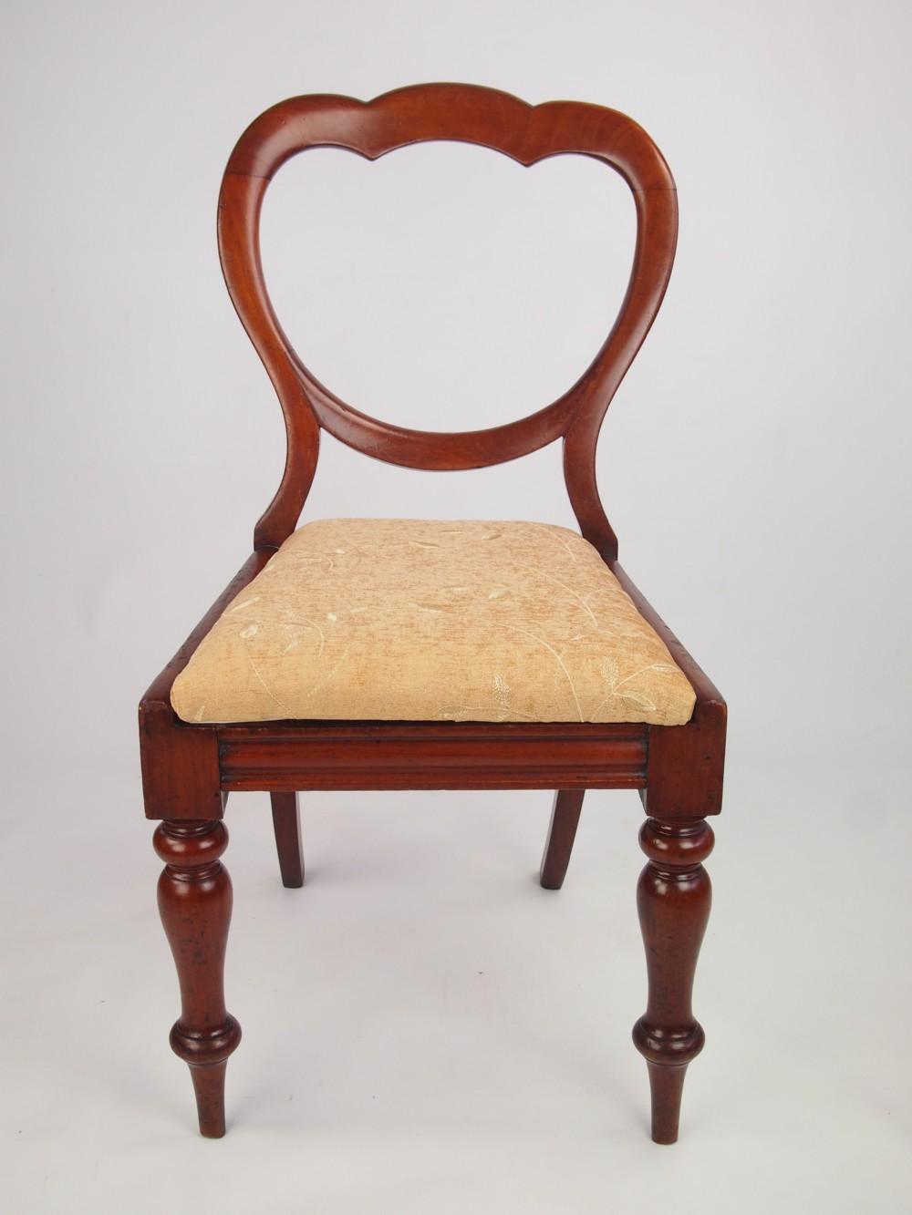 Antique Victorian Mahogany Balloon Back Chair 265991