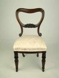 Antique Victorian Balloon Back Rosewood Chair - Dressing ...