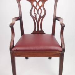 Antique Mahogany Office Chair Personalized Toddler Rocking Large George Iii Desk 263998