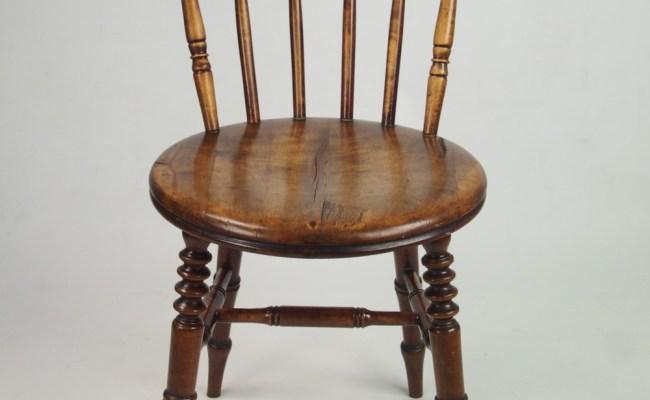 Set 4 Antique Pine Kitchen Chairs 267710