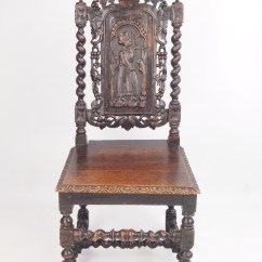Barley Twist Chair Covers And Tablecloths Wholesale Antique Victorian Carved Oak Gothic / Hall Or Desk | 273256 Sellingantiques.co.uk