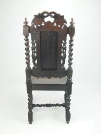Antique Victorian Carved Oak Gothic Chair / Hall Or Desk ...