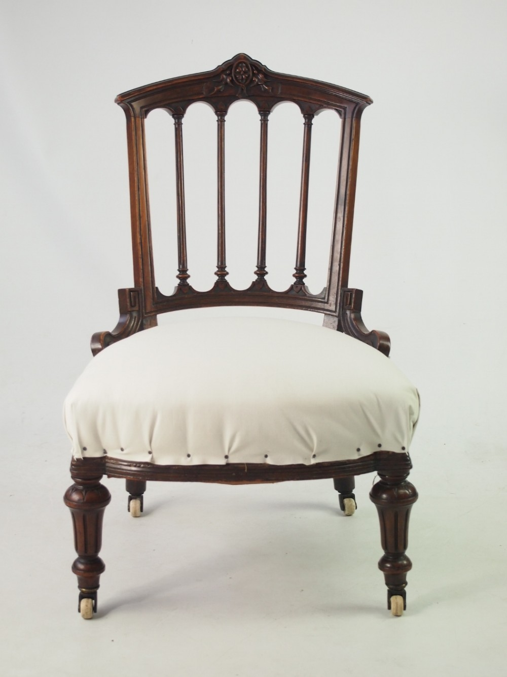 Small Victorian Bedroom Chair Or Dressing Table Chair