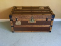 An Attractive Victorian Steamer Trunk (coffee Table ...