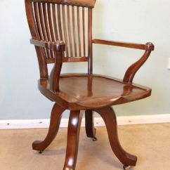 Antique Mahogany Office Chair Champagne Covers Swivel Desk 405465 Sellingantiques Co Uk