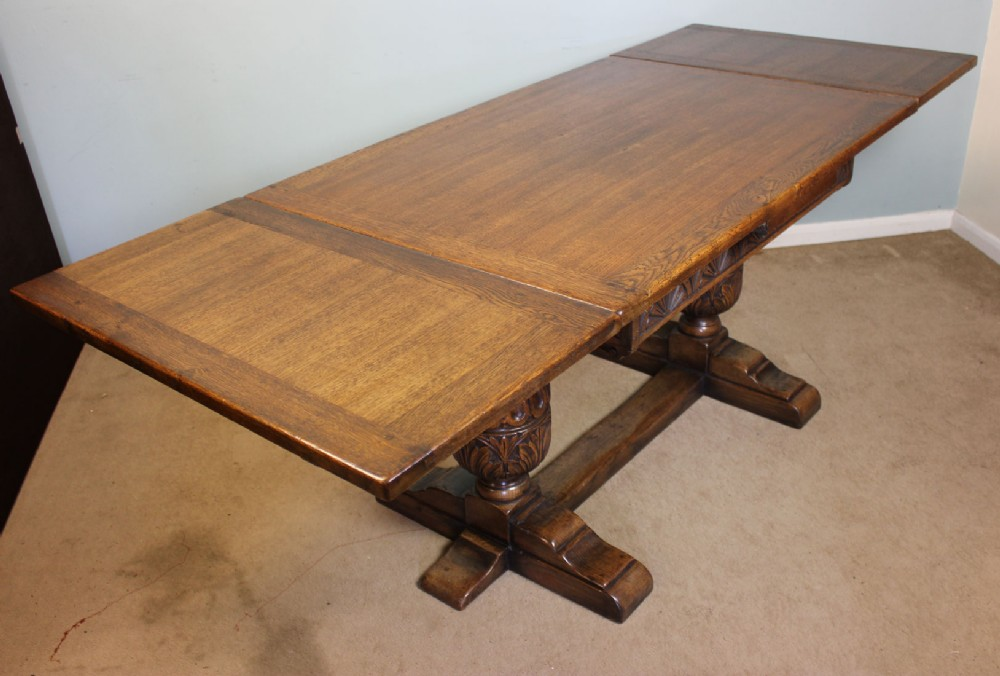 Antique Draw Leaf Farmhouse Kitchen Dining Table 282286