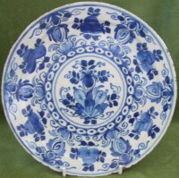 Antique Dutch Blue And White Delftware Plate