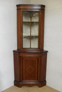 Corner Display Cabinet | 238608 | Sellingantiques.co.uk
